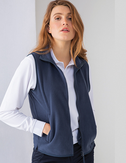 Ladies` Sleeveless Microfleece Jacket